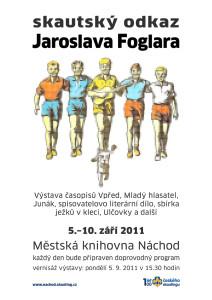 plakát výstavy o díle Jaroslava Foglara a skautingu